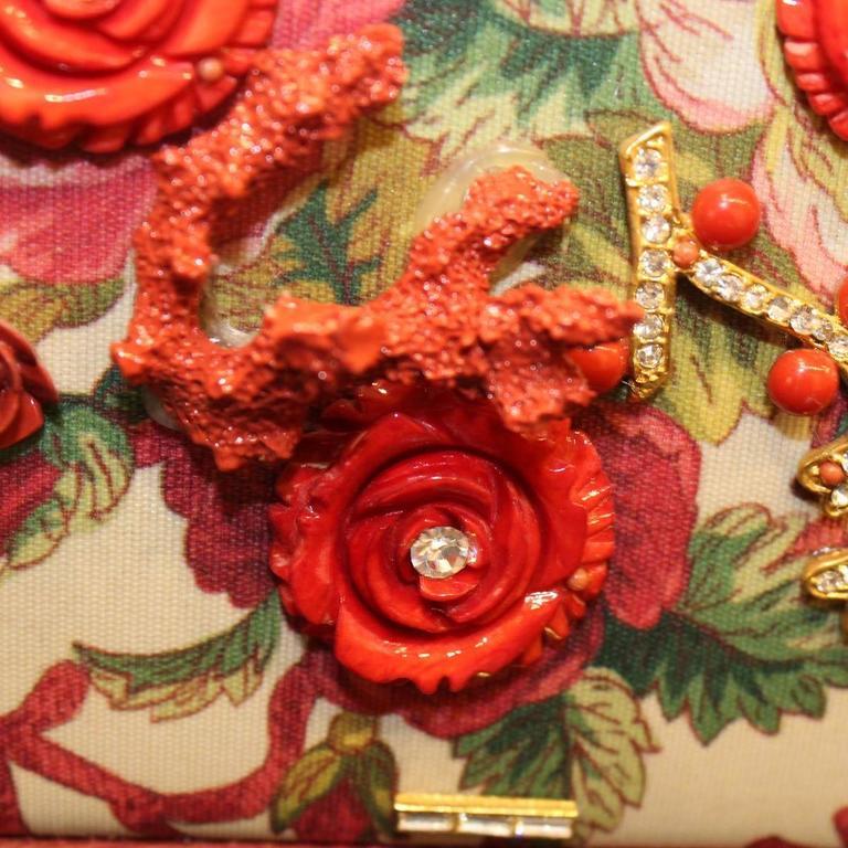 Unique Carlo Zini Floral Jewel Bag 5