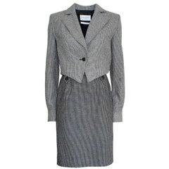Yves Saint Laurent Wool Tweed Suit 42