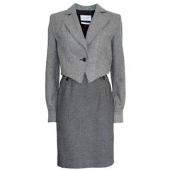 Yves Saint Laurent Wool Tweed Suit 42