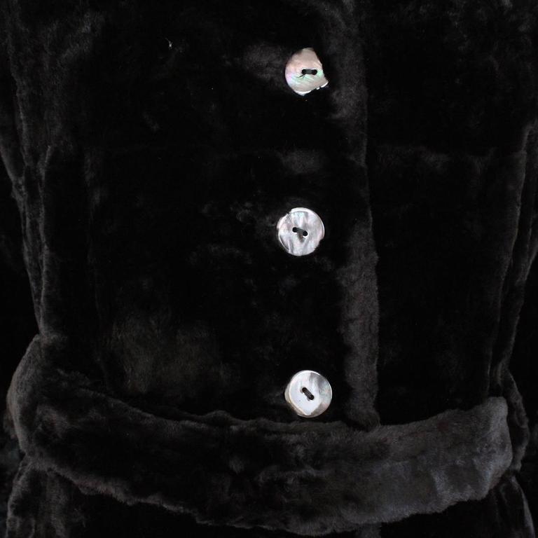 Marni Black Fur Coat 44 In Excellent Condition For Sale In Gazzaniga (BG), IT