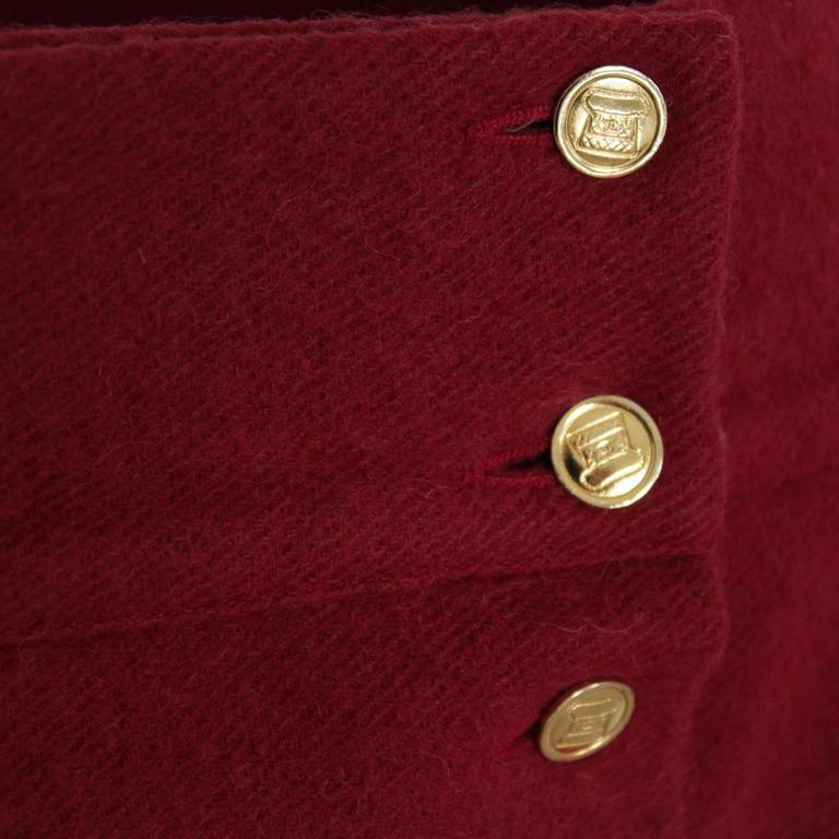 Red Chanel Cherry Wool Skirt  For Sale