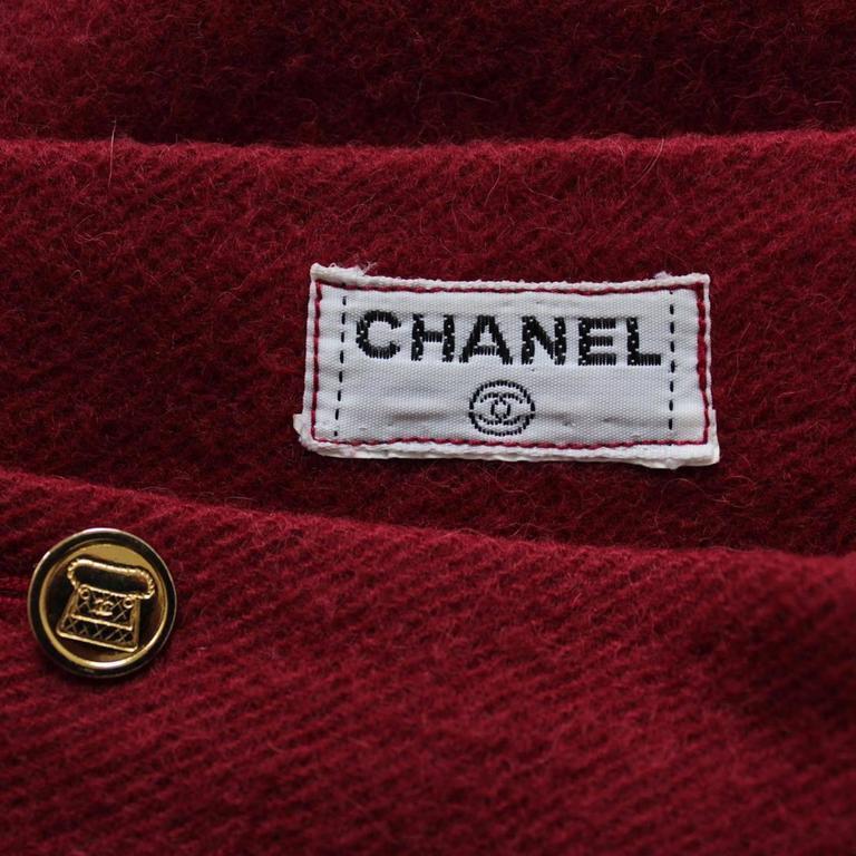 Chanel Cherry Wool Skirt  4