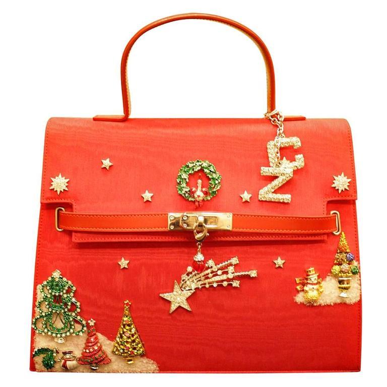 Unique Carlo Zini Christmas Jewel Bag For Sale at 1stdibs