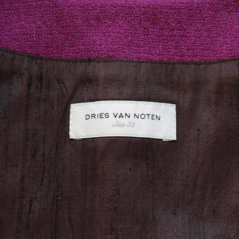 Dries Van Noten Wool and Mink Jacket 4