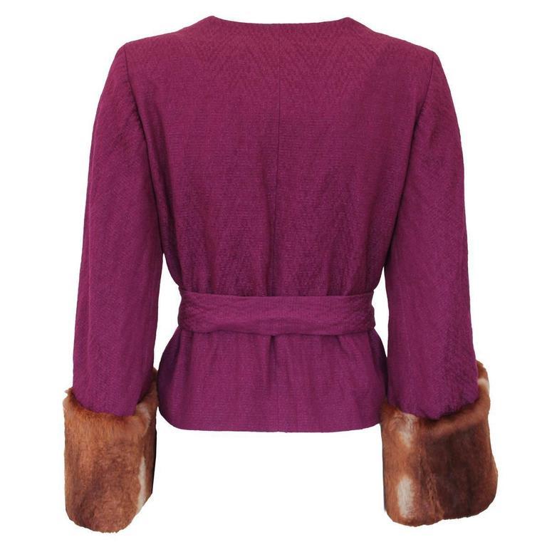 Dries Van Noten Wool and Mink Jacket 2