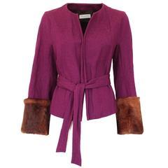 Dries Van Noten Wool and Mink Jacket
