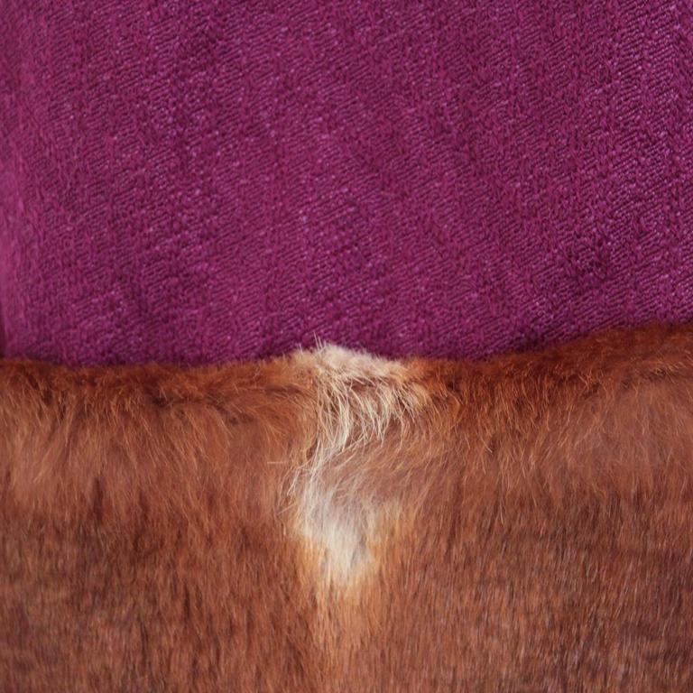 Dries Van Noten Wool and Mink Jacket 3