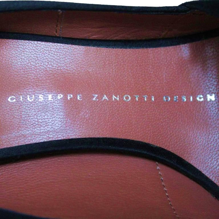 Giuseppe Zanotti Design Satin Open Toe 37 5