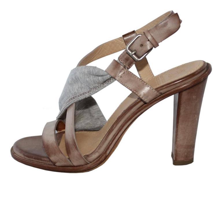 Brunello Cucinelli Brass Sandal 39 1