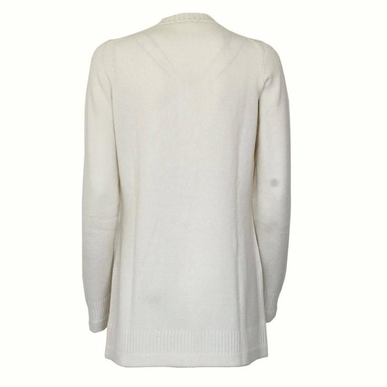 Chanel Cream Cashmere Cardigan 2