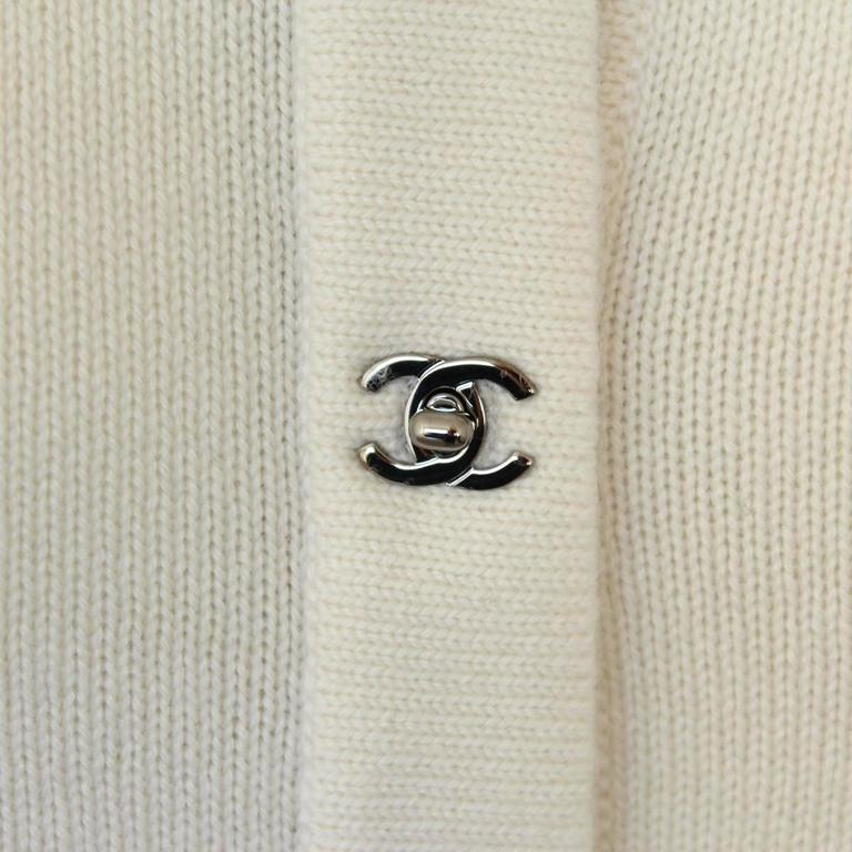 Chanel Cream Cashmere Cardigan 3
