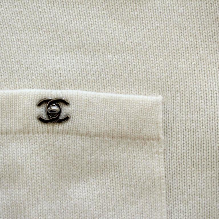Chanel Cream Cashmere Cardigan 4