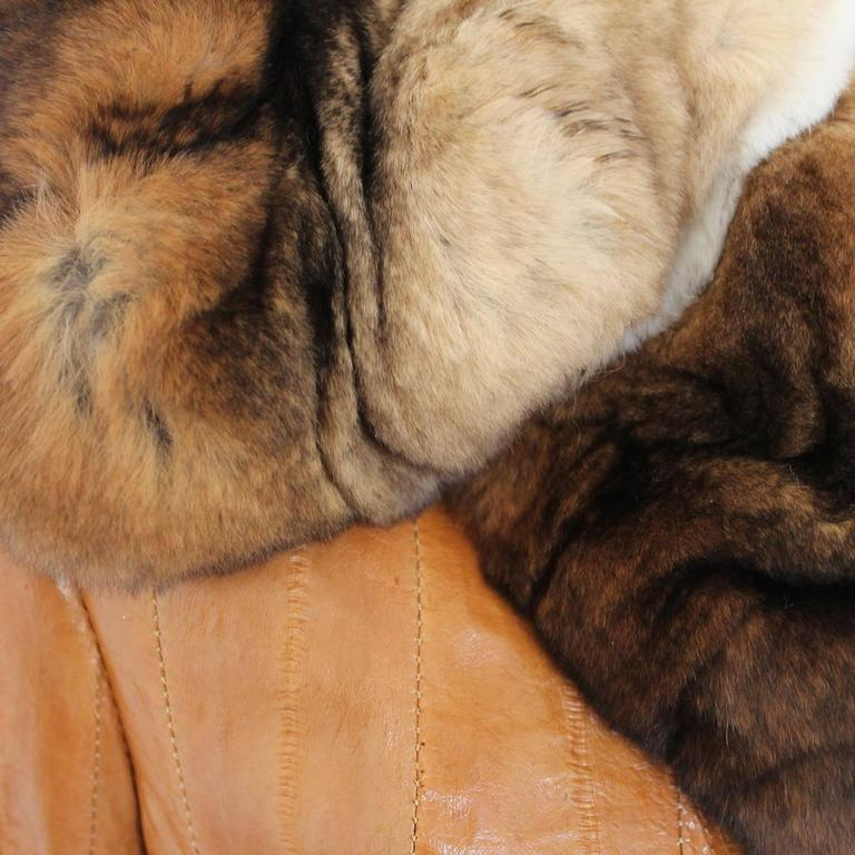 John Galliano Eel and Fur Jacket In Excellent Condition For Sale In Gazzaniga (BG), IT
