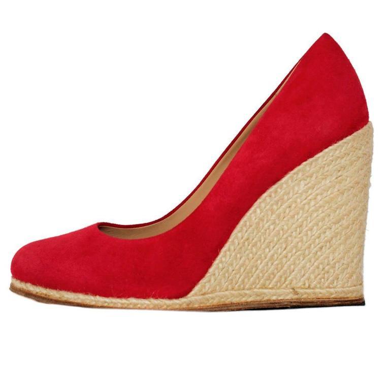 Salvatore Ferragamo Suede Wedge Shoe 38,5 1