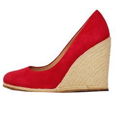 Salvatore Ferragamo Suede Wedge Shoe 38,5