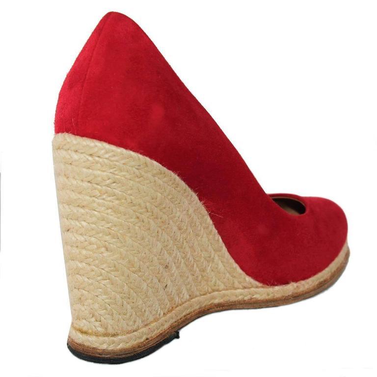 Salvatore Ferragamo Suede Wedge Shoe 38,5 2