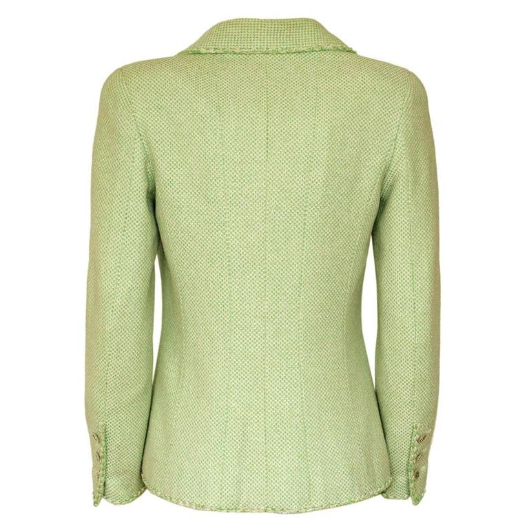 Chanel Wool Blend Green Jacket 38 - 42 2