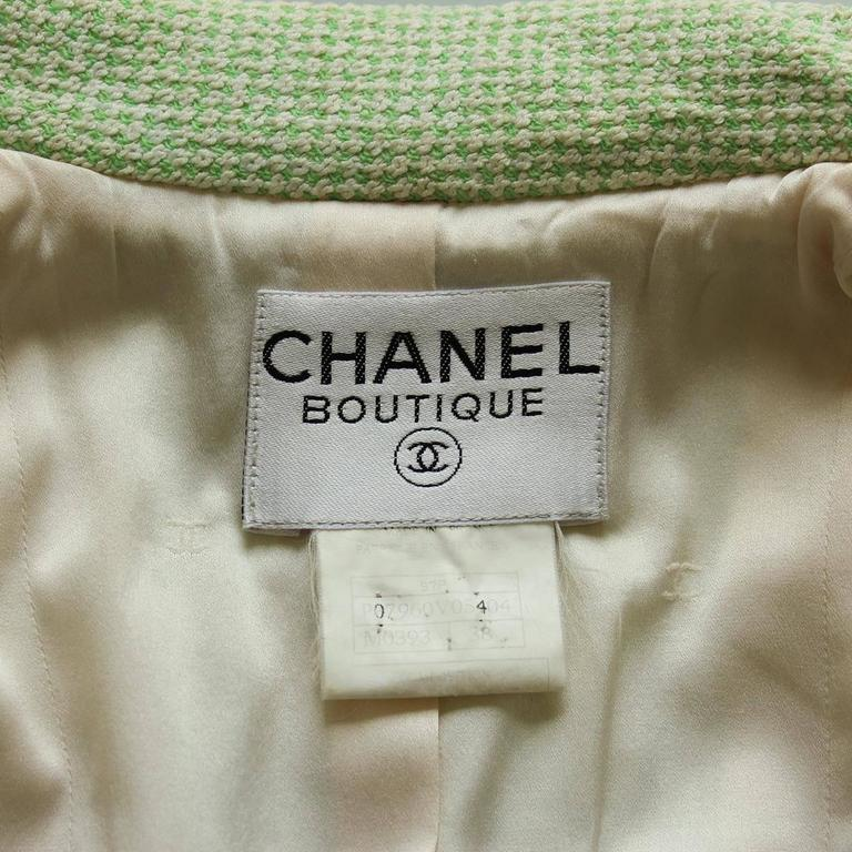 Chanel Wool Blend Green Jacket 38 - 42 4
