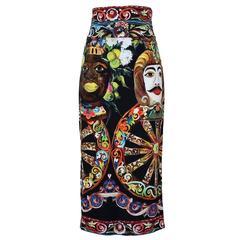 Dolce & Gabbana Carretto Siciliano Skirt 40