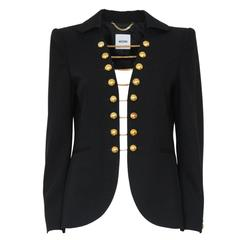 "Moschino Black ""Alamari"" Jacket 44"