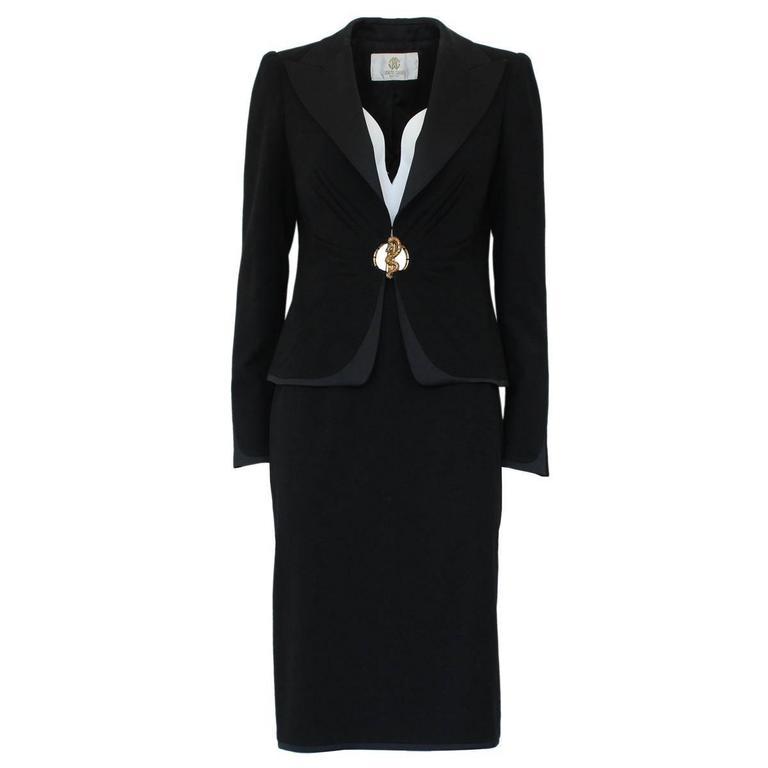 Roberto Cavalli Jacket and Skirt Suit 42