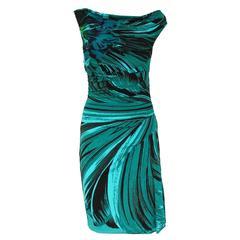 Roberto Cavalli Aqua Green Dress 42