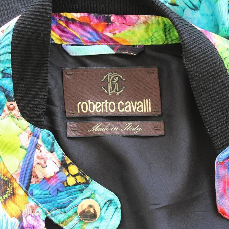 Roberto Cavalli Multicolored Silk Eagles Jacket 4
