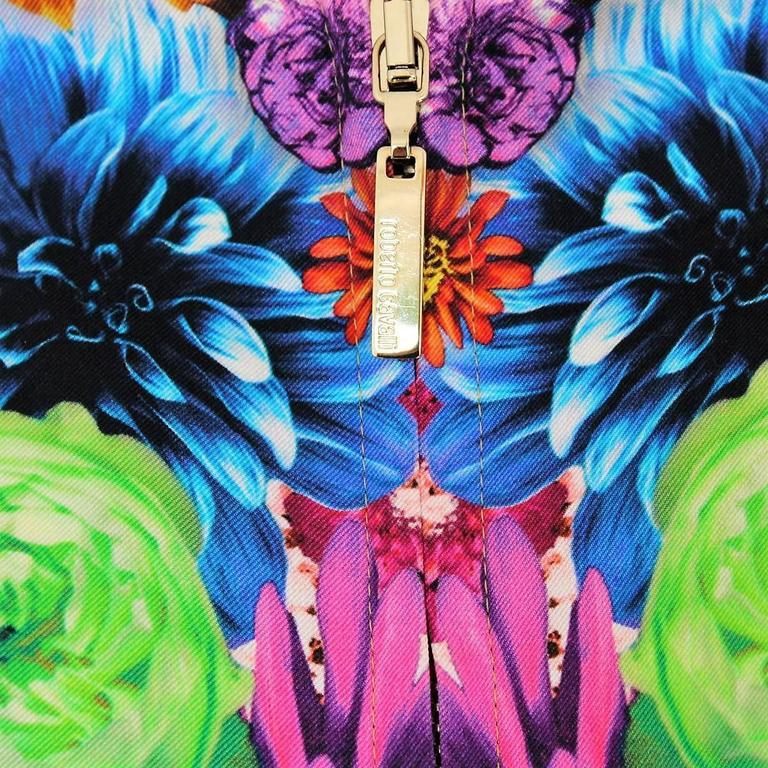 Roberto Cavalli Multicolored Silk Eagles Jacket 3
