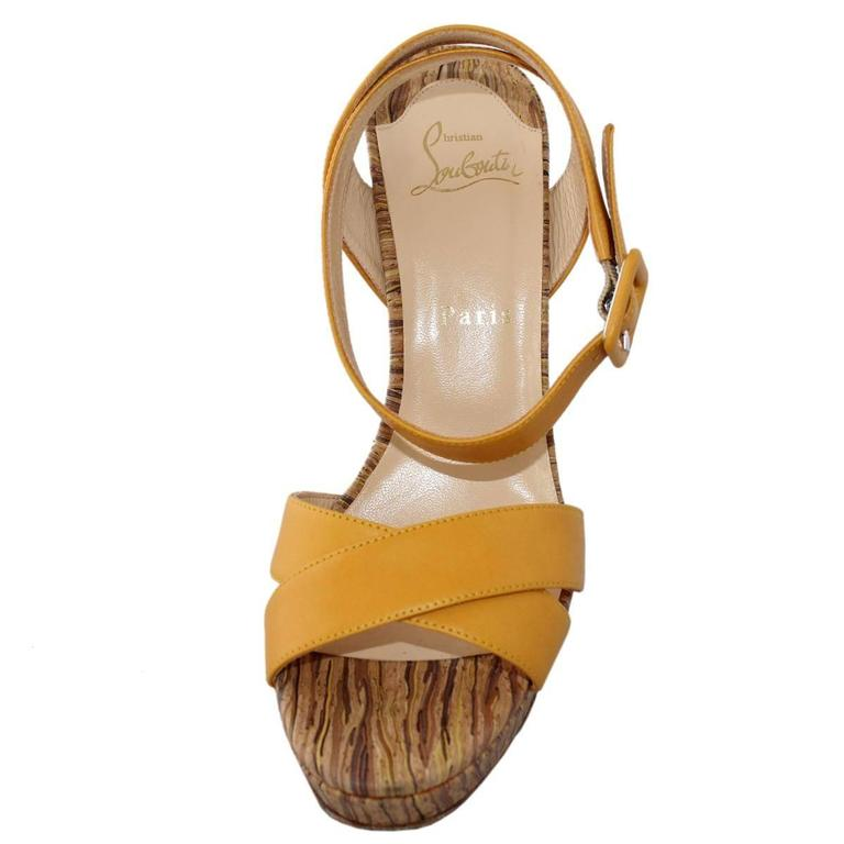 Brown Christian Louboutin Glory 140 Sandal For Sale