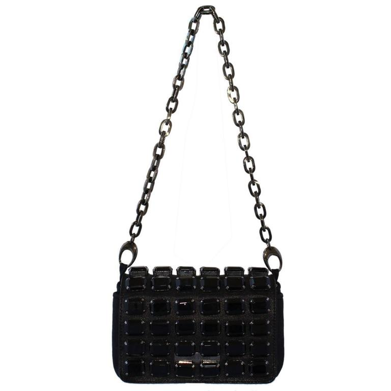 Jimmy Choo Black Jewel Pochette For Sale