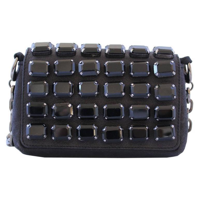 Jimmy Choo Black Jewel Pochette In Good Condition For Sale In Gazzaniga (BG), IT