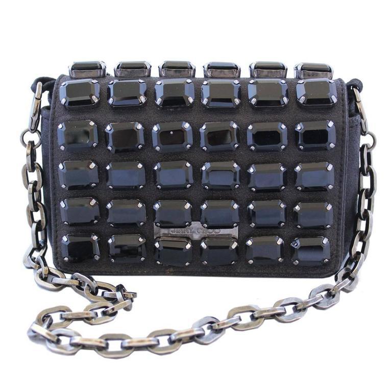 Women's Jimmy Choo Black Jewel Pochette For Sale