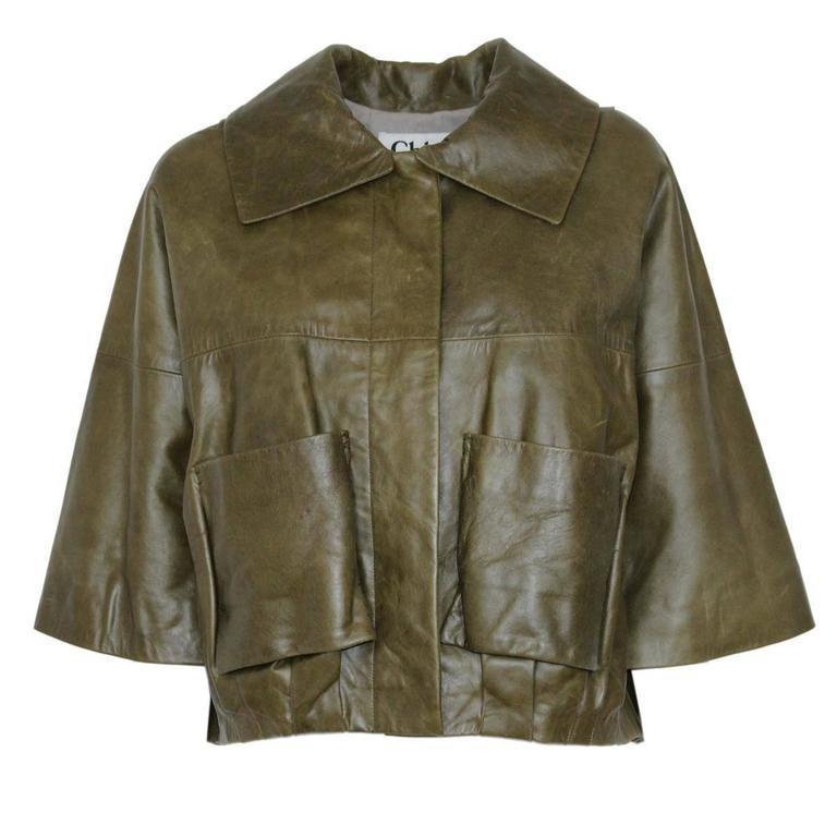 Chloé  Green Lambskin Jacket 44 1