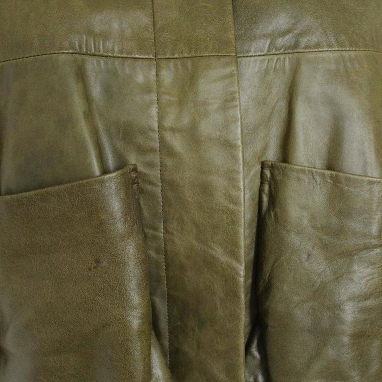 Chloé  Green Lambskin Jacket 44 3