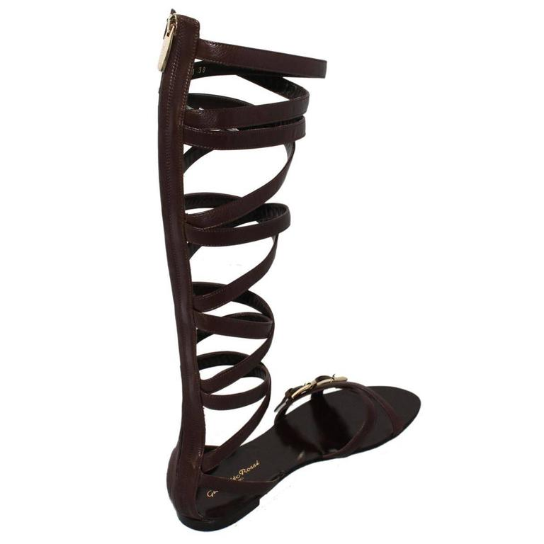"""Black Gianvito Rossi  """"Slave"""" Sandal 38 For Sale"""