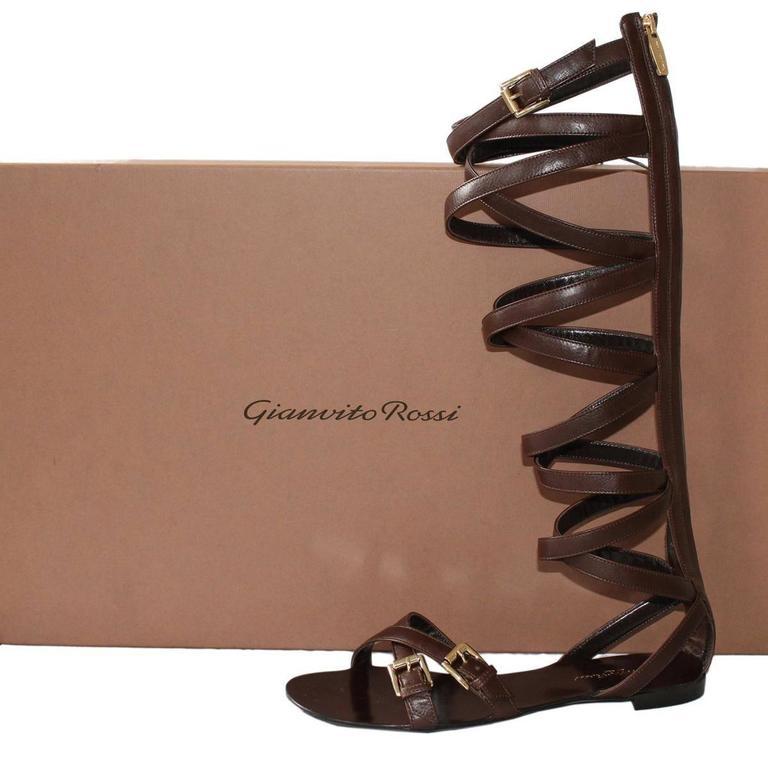 "Women's Gianvito Rossi  ""Slave"" Sandal 38 For Sale"