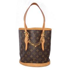 Louis Vuitton Monogram Petit Bucket Bag and Charms