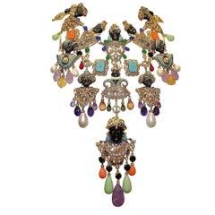 Carlo Zini  Venetian Mori Big Necklace