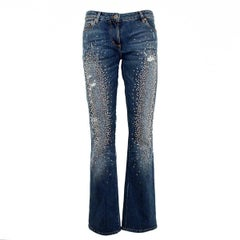 Limited Edition Roberto Cavalli Swarovsky Jeans IT46