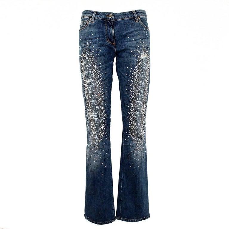 Limited Edition Roberto Cavalli Swarovsky Jeans IT46