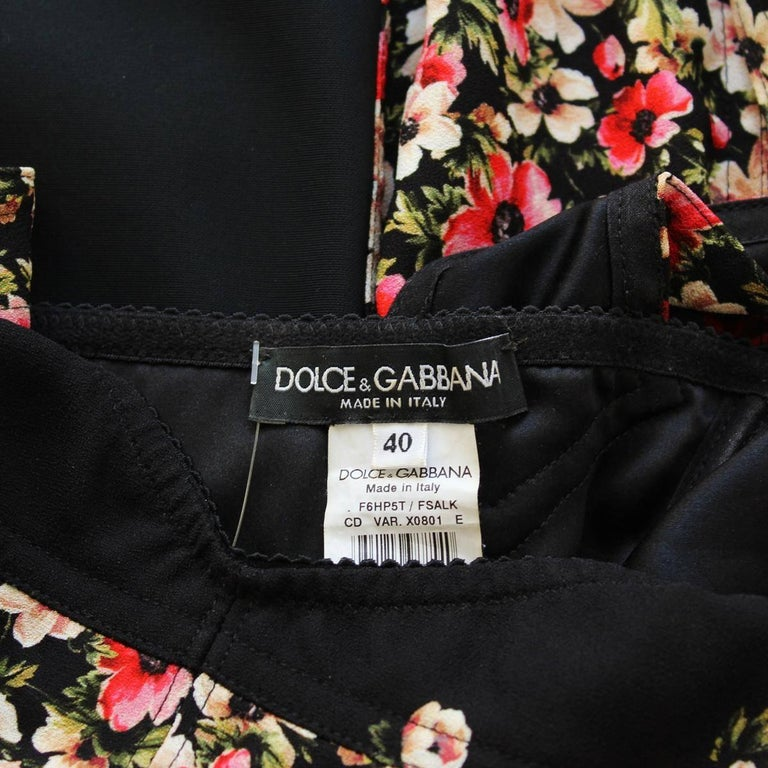Dolce & Gabbana Floral Dress IT 40 4