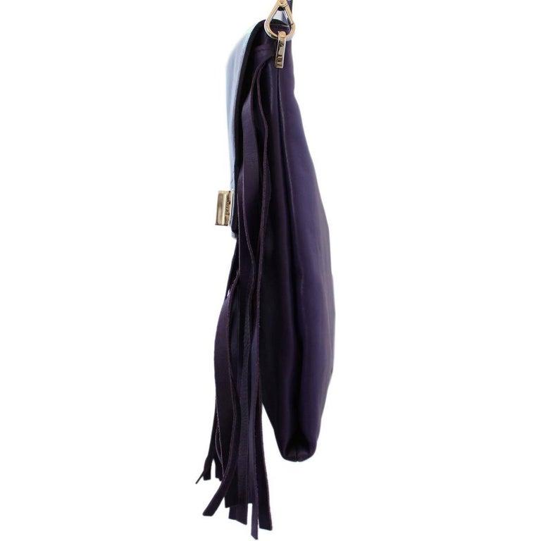 Women's Prada Purple Fringes Shoulder Bag