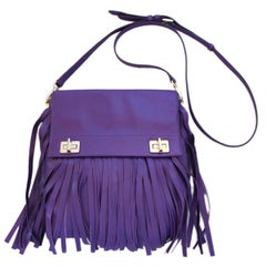Prada Purple Fringes Shoulder Bag