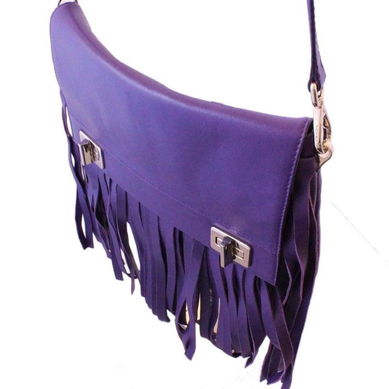 Prada Purple Fringes Shoulder Bag 1