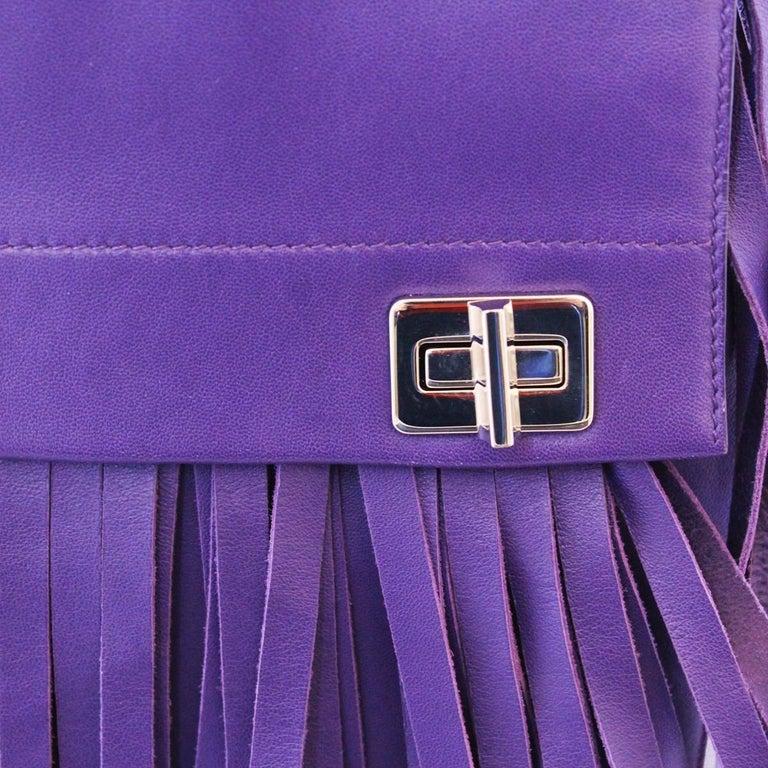 Prada Purple Fringes Shoulder Bag 2
