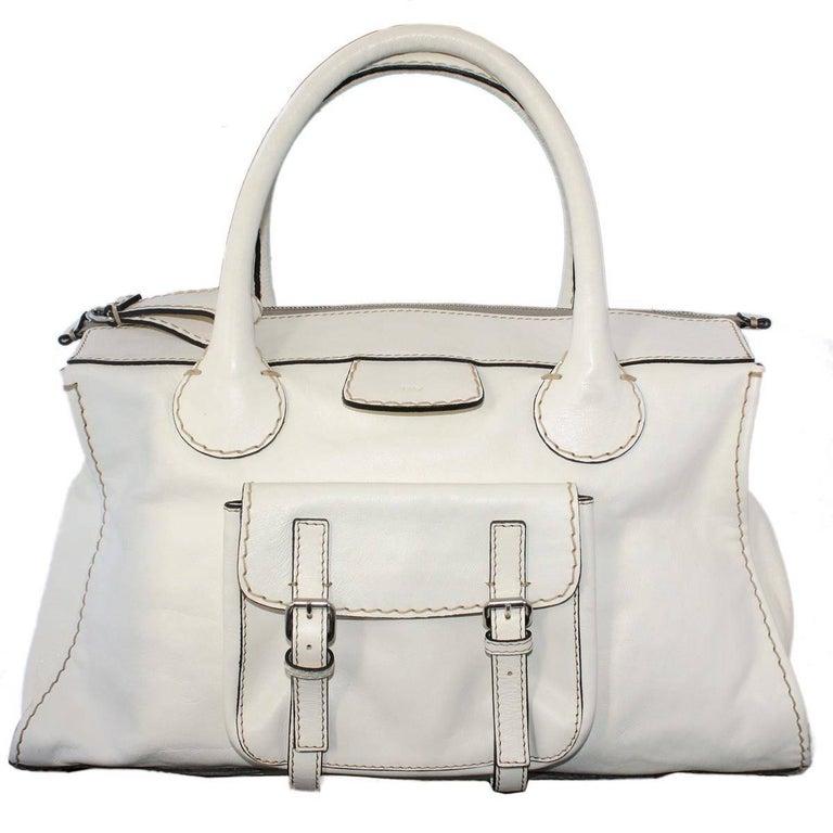 Chloé  Edith XXL White Bag
