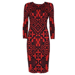 Alexander McQueen  Black&Red Optical Dress M