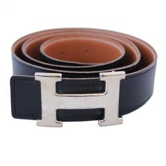 Hermès  Black Leather Belt