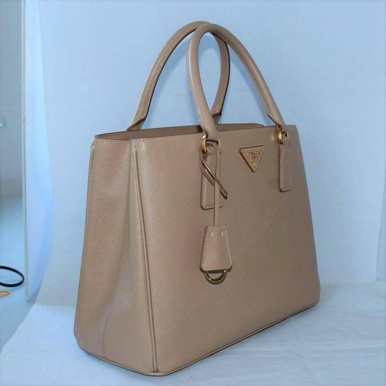 0cc60b1e417a Brown Prada Galleria Saffiano Cameo Bag For Sale