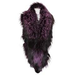 De Nicola Roma Purple Fox Fur Collar